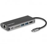 StarTech.com Docking Station USB-C, 1x HDMI, 1x RJ-45, Negro