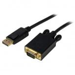 StarTech.com Cable DisplayPort Macho - VGA (D-Sub) Macho, 1.8 Metros, Negro