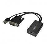 StarTech.com Adaptador DVI Macho - DisplayPort Hembra, Alimentado por USB