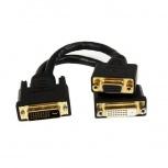 StarTech.com Cable Divisor para Terminales Wyse, DVI-I Macho - DVI-D y VGA Hembra, 20cm, Negro