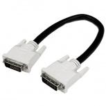 StarTech.com Cable para Monitor DVI-D Macho - DVI-D Macho, 30cm, Negro