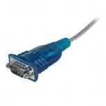 Startech.com Cable Adaptador USB 2.0 A Macho - RS-232 de 1 Puerto Serial DB9 Macho, 43cm, Azul/Plata
