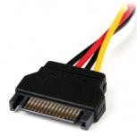 StarTech.com Cable Adaptador de Alimentación SATA a LP4, 15cm