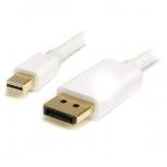StarTech.com Cable Mini DisplayPort Macho - DisplayPort Macho, 2 Metros, Blanco