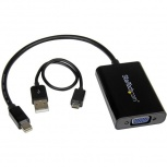 StarTech.com Adaptador de Video Mini DisplayPort - VGA con Audio, Negro