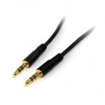 StarTech.com Cable AUX 3.5mm Macho - 3.5mm Macho, 1.8 Metros, Negro
