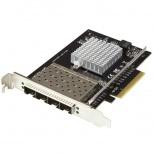 StarTech.com Tarjeta de Red PCI Express de 4 Puertos SFP+, 20000 Mbit/s