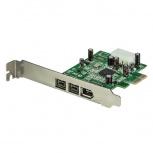 StarTech.com Tarjeta PCI Express PEX1394B3, Alámbrico, 3 Puertos FireWire