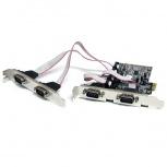 StarTech.com Tarjeta PCI Express de 4 Puertos Serie RS232 UART 16550 Serial DB9