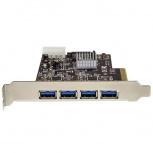 StarTech.com Tarjeta PCI Express de 4 Puertos USB 3.1, 2 Canales Dedicados