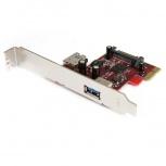 StarTech.com PEXUSB3S11 Tarjeta PCI Express SuperSpeed, Alámbrico, 5120 Mbit/s, con 2 puertos USB 3.0