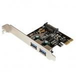 StarTech.com Tarjeta PCI Express PEXUSB3S23, 5 Gbit/s, 2x USB 3.0