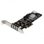 Startech.com Tarjeta PCI Express con Fuente Molex, 4 Puertos USB 3.0