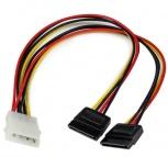 StarTech.com Cable de Alimentación en Y, 12'', 2x SATA, 30cm