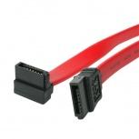 StarTech.com Cable SATA en Ángulo Recto, 45cm, Rojo