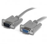StarTech.com Cable Serial DB-9 Hembra - DB-9 Macho, 3 Metros, Gris