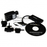 StarTech.com Hub USB A 3.0 de Aluminio con 3 Puertos USB y Adaptador de Red Ethernet Gigabit