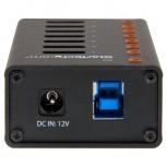 StarTech.com Hub USB 3.0 de 7 Puertos, 5000 Mbit/s, Negro