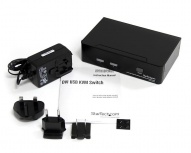 StarTech.com Switch KVM de 2 Puertos DVI con Hub USB 2.0 y Audio
