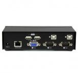StarTech.com Switch KVM de 2 Puertos VGA con Tecnología de Conmutado Rápido (DDM) y Cables