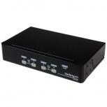 Startech.com Switch KVM, VGA/USB 2.0, 4 Puertos, 1U Rack Estante