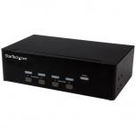 StarTech.com Conmutador KVM de 4 Puertos con VGA doble y concentrador USB 2.0 de 2 Puertos