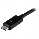 StarTech.com Cable Thunderbolt 3 USB-C (24-pin) Macho, 50cm, Negro - Compatible con Thunderbolt y USB