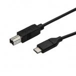 StarTech.com Cable USB-C Macho - USB-B Macho para Impresora, 3 Metros, Negro