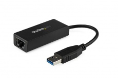 StarTech.com Adaptador de Tarjeta de Red Externa NIC USB 3.0 Macho - Gigabit Ethernet RJ-45 Hembra, 1Gbps, Negro