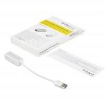 StarTech.com Adaptador de Red Ethernet Gigabit Externo, 1x USB 3.0, Plata