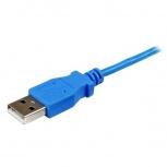StarTech.com Cable Slim Micro USB B - USB A, 1 Metro, Azul