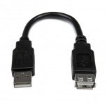 StarTech.com Cable de Extensión USB 2.0 Macho - Hembra, 15cm, Negro