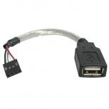 StarTech.com Cable Adaptador para Tarjeta Madre USB 2.0 Hembra - IDC 4-pin Hembra, 15cm