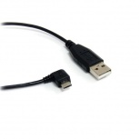 Startech.com Cable USB A Macho - Micro USB B Macho Acodado a la Derecha, 1.8 Metros, Negro