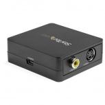StarTech.com Adaptador VGA Hembra - RCA/S-Video Hembra, Negro
