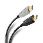 Steren Cable HDMI de Fibra Óptica HDMI Macho - HDMI Macho, 4K, 30 Metros, Negro/Gris