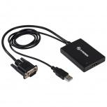 Steren Adaptador VGA/USB Macho - HDMI Hembra, Negro