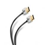 Steren Cable Ultra Delgado HDMI Macho - HDMI Macho, 1.8 Metros, Negro/Blanco