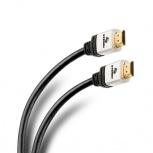 Steren Cable Ultra Delgado HDMI Macho - HDMI Macho, 10 Metros, Negro/Blanco