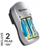 Steren Cargador CRG-010 para 1 - 2 Pilas AA/AAA
