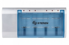 Steren Cargador Universal CRG-500 para 1- 6 Pilas AA/AAA/C/D