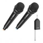 Steren Micrófono para Presentación MIC-288, Inalámbrico/Alámbrico, Negro