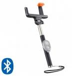 Steren Selfie Stick, Android/iOS, 100cm, Negro/Plata