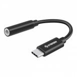 Steren Adaptador USB-C Macho - 3.5mm Hembra, Negro
