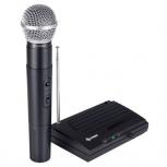 Steren Micrófono con Receptor WR-040, Inalámbrico VHF, Negro