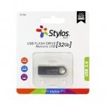 Memoria USB Stylos STMUSB3B, 32GB, USB 2.0, Plata