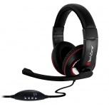 Techzone Audífonos Gamer  TZ16AUD01-PC, Alámbrico, 1.8 Metros, USB, Negro/Rojo