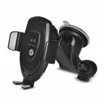 TechZone Cargador Inalámbrico con Soporte de Auto, 5V, USB C, Negro