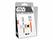 Tribe Cable BB-8 Lightning Macho - USB A Macho, 1.2 Metros, Naranja/Blanco, para iPod/iPad/iPhone