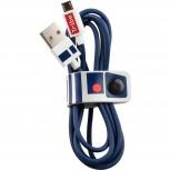 Tribe Cable USB A Macho - Micro USB B Macho, 1.2 Metros, Azul/Blanco
